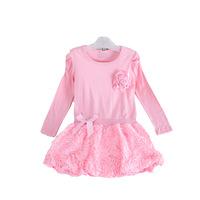 YT003 DHL free Korean fashion girl dress flower baby girl dress patterns baby cotton dress