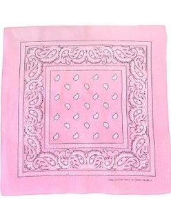 2015 new launched pink 100%cotton paisley bandana