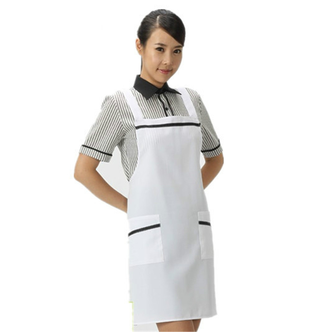 2016 cheap fashion promotion nonwoven hotel aprons