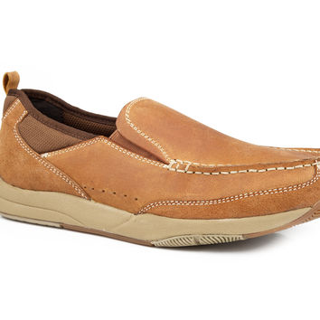 Casual 2 layers suede loafer shoes hard sole men shoes