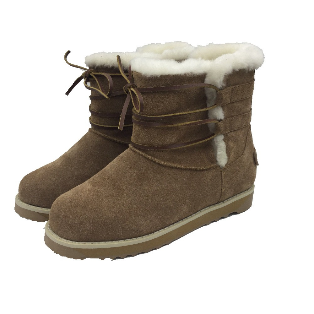 ZhenJiang 2015 Mens classic snow boots hot cool warm sheepskin wool-ones now boots factory provide