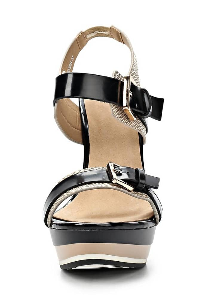 2015 new model women high heel wedge patent leather wedge sandals
