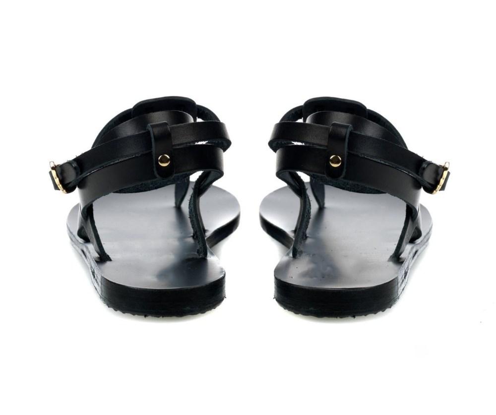 Brand OEM black women sandals pu upper ladies sandals