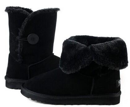 JLX 2015 sand color beige Australian sheepskin wool-one ankle shoes winter boots women boots