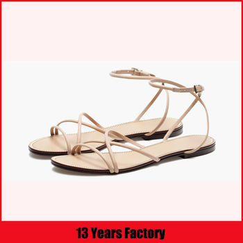 design sandals/french sandals/new design fashion flat summer sandals 2016