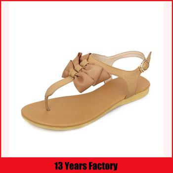 latest ladies flat sandals/white sandals/ladies pu sandals