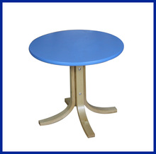 round wooden restaurant tables with aluminum legs XYM-T12