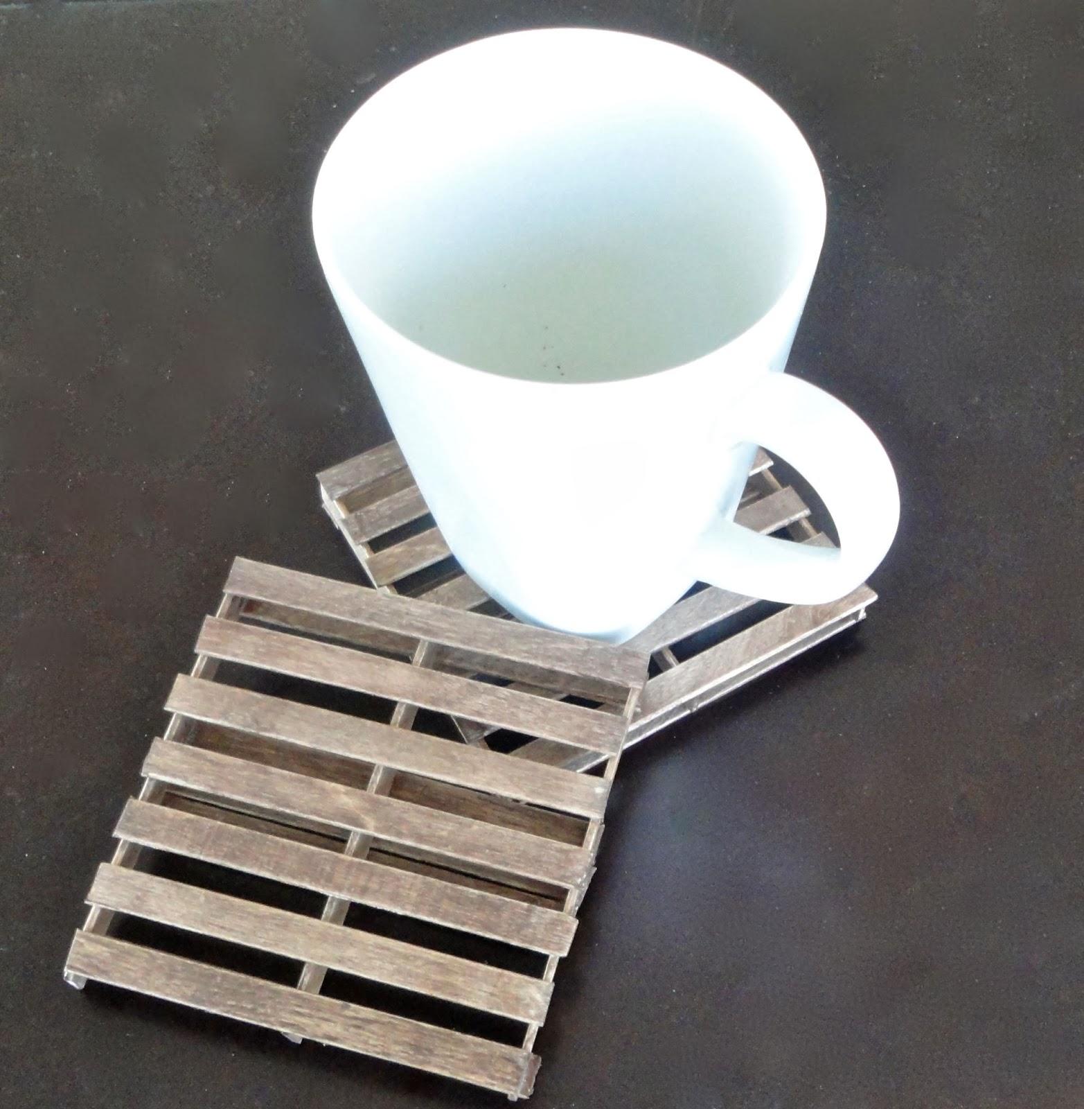 mini craft wooden pallets coaster , wood tea coaster for home decor