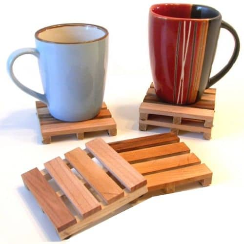 Miniature wood pallet coasters suitable for all kinds of drinks ,custom wooden coaster
