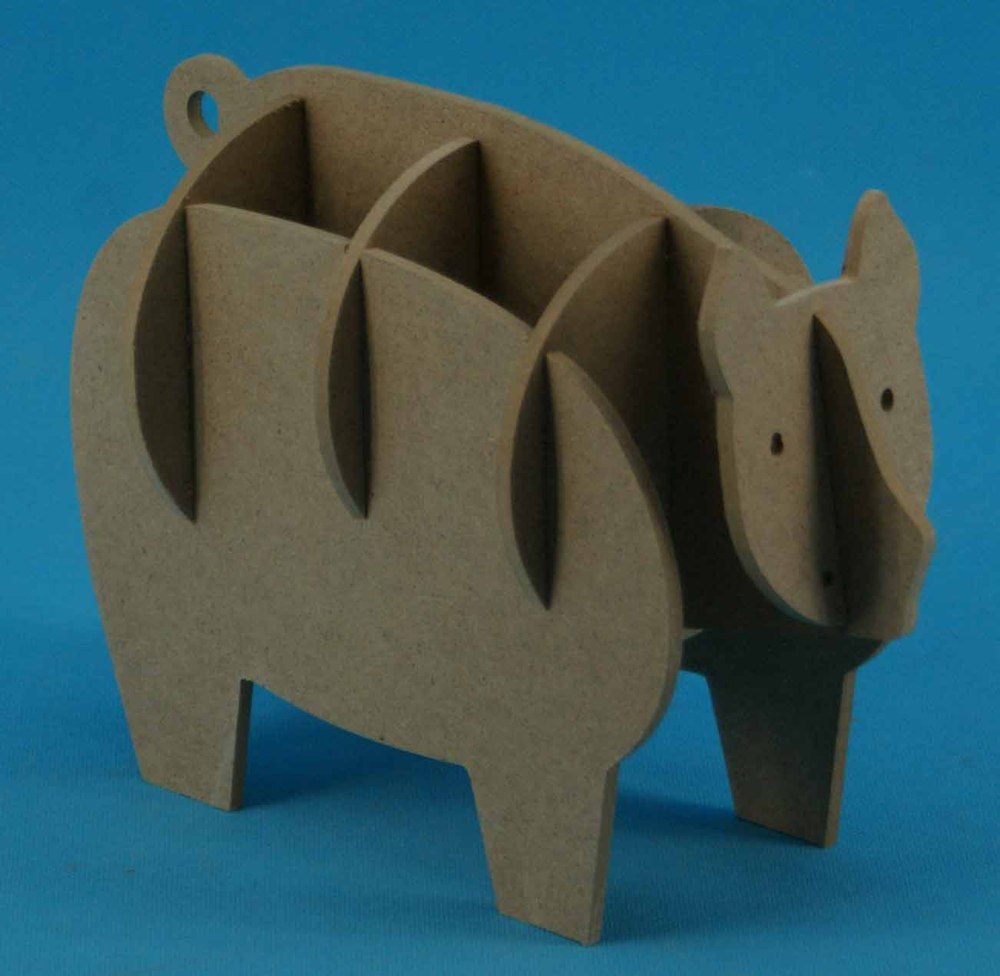 funny animal laser cut 3D wooden puzzle