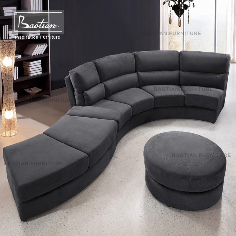 Germany living room curved sofa U shaped sectional sofa