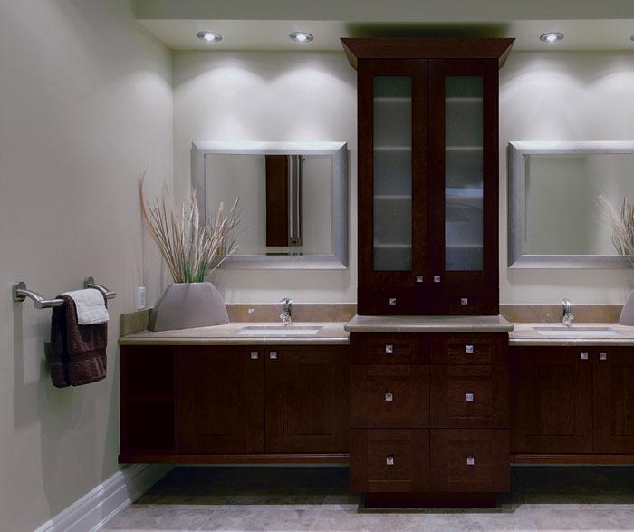 modern style bathroom vanity cabinet melamine finish for sale
