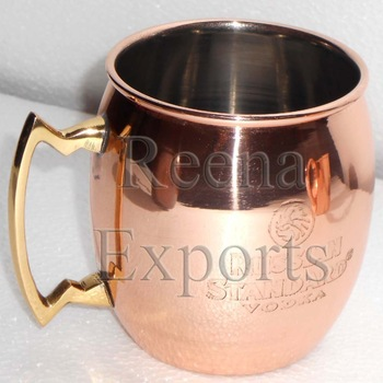 14 oz RUSSIAN STANDARD MOSCOW MULE MUG SOLID COPPER MULE MUG MANUFACTURER FROM INDIA