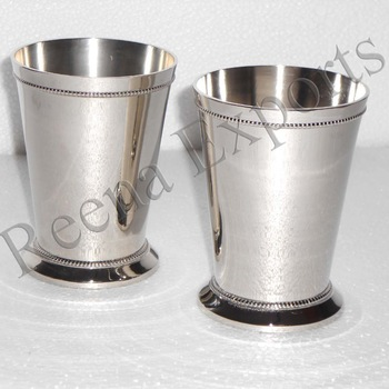 Manufacturer & Wholesale of Solid Brass Mint Julep Cup Nickle Julep cups