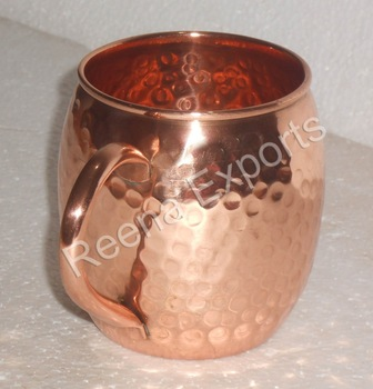 Pure Copper Moscow Mule Mug - 16oz 100% Solid Moscow Mule Mugs with No Inner Lining