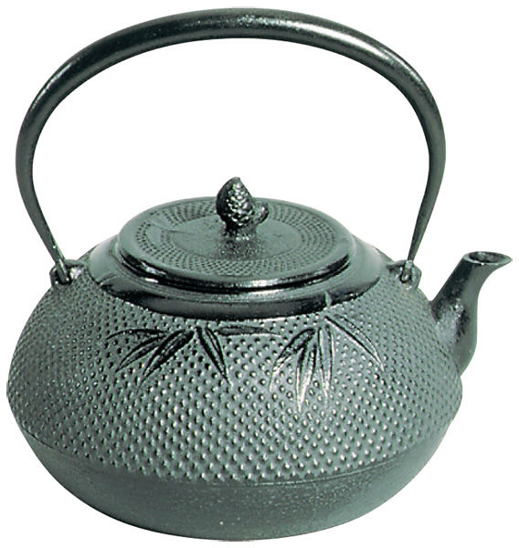 Iron Steel Tea Kettle Goshin Tetsubin