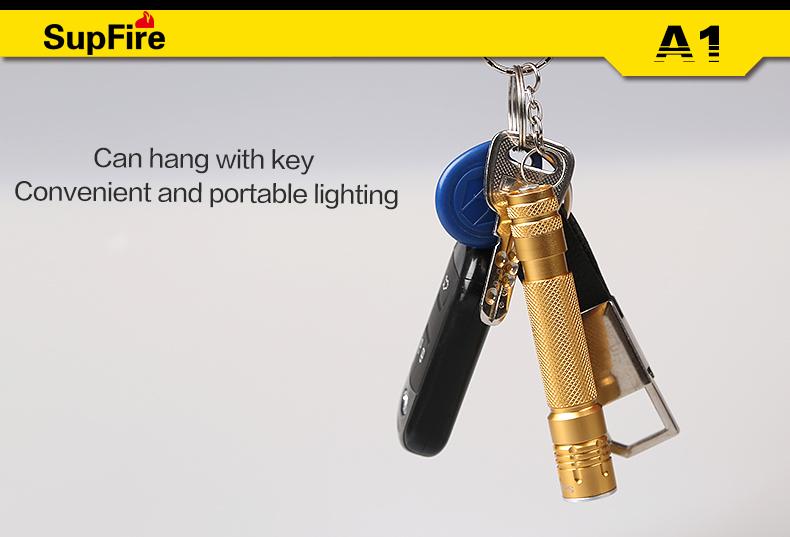 New Product Mini LED Flashlight With Key Chain