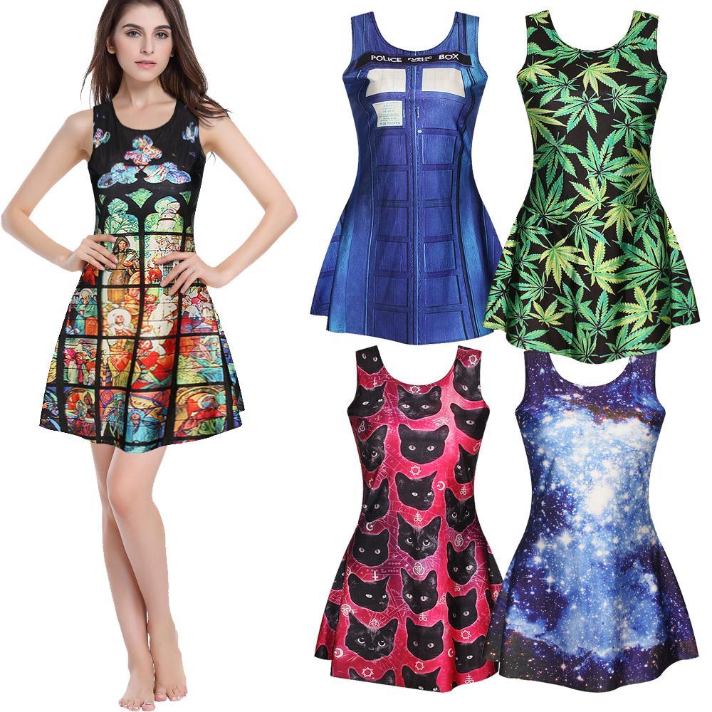 digital printing fabric ladies summer dress