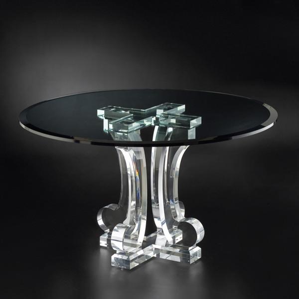 Clear Acrylic Round Pedestal