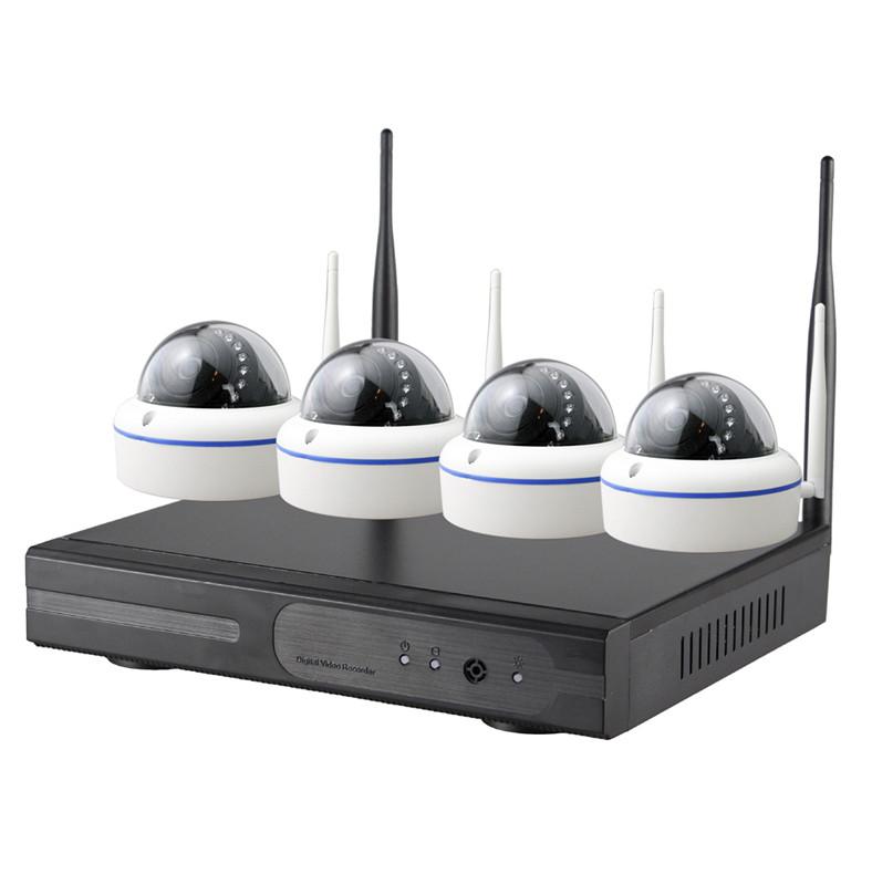 4CH Dome 720P WIFI NVR Kit